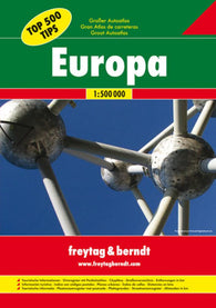 Buy map Europe, Great Road Atlas, Hardcover by Freytag-Berndt und Artaria