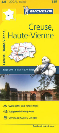 Buy map Creuse, Haute-Vienne Road and Tourist Map by Michelin Travel Partner