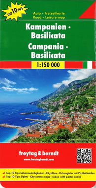 Buy map Basilicata and Campania, Italy by Freytag-Berndt und Artaria
