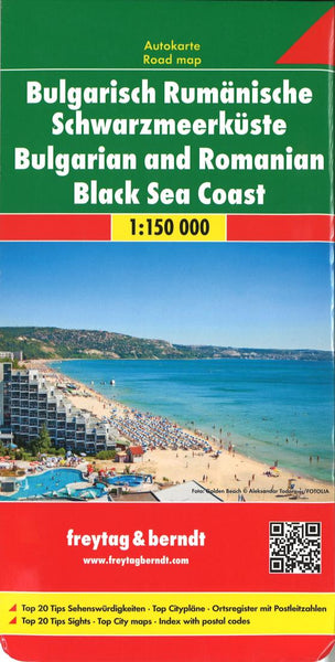 Buy map Bulgarian / Romanian Black Sea Coast by Freytag-Berndt und Artaria