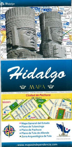 Buy map Hidalgo, Mexico, State and Major Cities Map by Ediciones Independencia