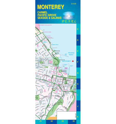 Buy map Monterey California Pearl Map laminated by GM Johnson