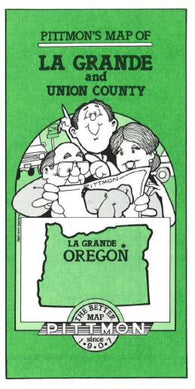 Buy map La Grande and Union County, Oregon by Pittmon Map Company
