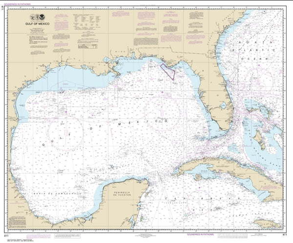 Buy map Gulf Of Mexico (411-54) by NOAA