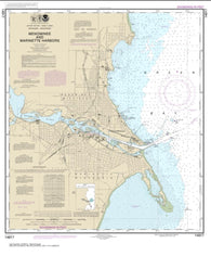 Buy map Menominee and Marinette Harbors (14917-25) by NOAA