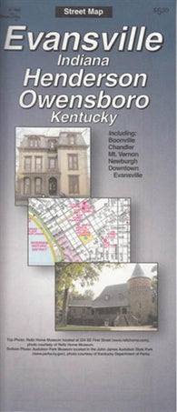 Buy map Evansville, Indiana and Henderson and Owensboro, Kentucky by The Seeger Map Company Inc.