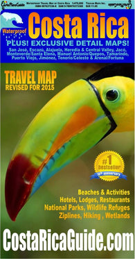 Buy map Costa Rica Travel Map by Toucan Maps Inc.