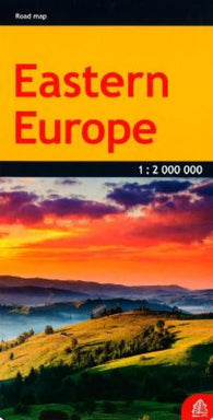 Buy map Europe, Eastern, road map by Jana Seta