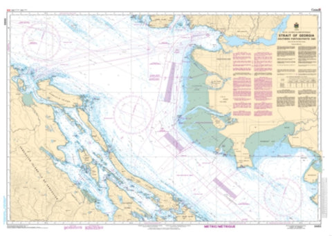 Buy map Strait of Georgia, Southern Portion/Partie Sud by Canadian Hydrographic Service