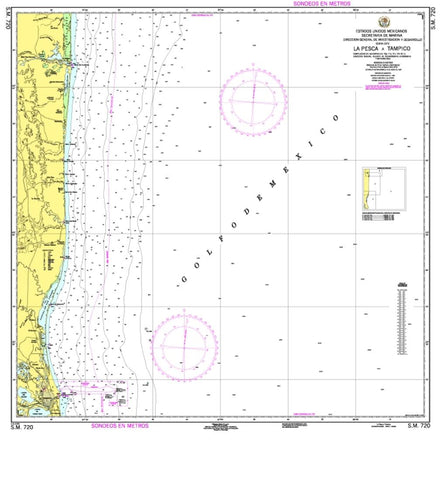 Buy map La Pesca a Tampico by Secretaria de Marina