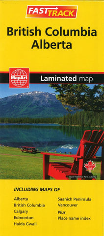 Buy map British Columbia and Alberta, Fast Track laminated map by Canadian Cartographics Corporation