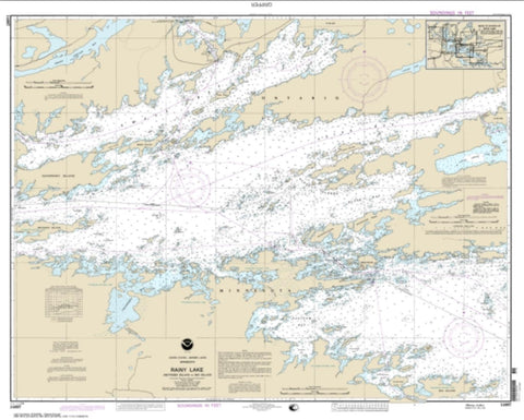 Buy map Rainy Lake-Dryweed Island, to Big Island (14997-15) by NOAA