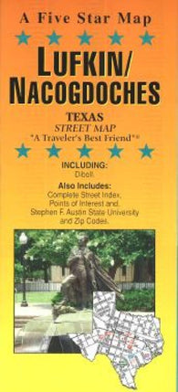 Buy map Lufkin and Nacogdoches, Texas by Five Star Maps, Inc.