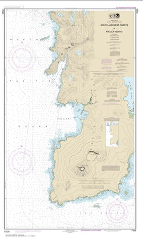 Buy map South and West Coasts of Kruzof Island (17325-9) by NOAA