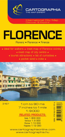 Buy map Florence, Italy by Cartographia