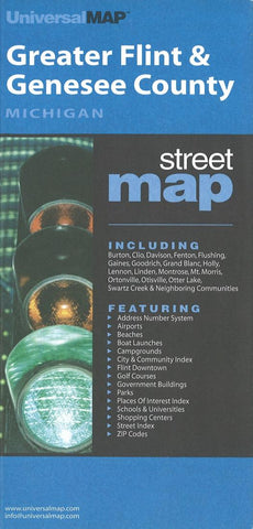 Buy map Flint and Genesee County, Michigan by Kappa Map Group