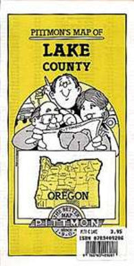 Buy map Lake County, Oregon by Pittmon Map Company