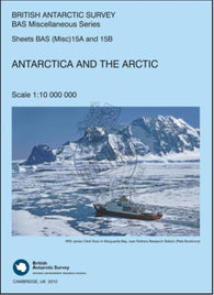 Buy map Antarctica and the Arctic by British Antarctic Survey