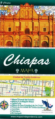 Buy map Chiapas, Mexico, State and Major Cities Map by Ediciones Independencia
