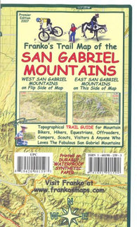 Buy map California Map, San Gabriel Mountains, folded, 2007 by Frankos Maps Ltd.