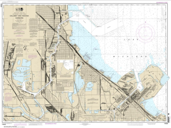 Buy map Calumet, Indiana and Buffington Harbors, and Lake Calumet (14929-25) by NOAA