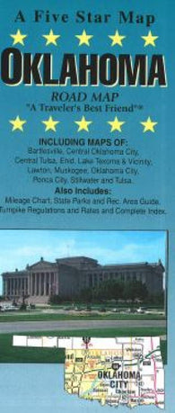 Buy map Oklahoma by Five Star Maps, Inc.