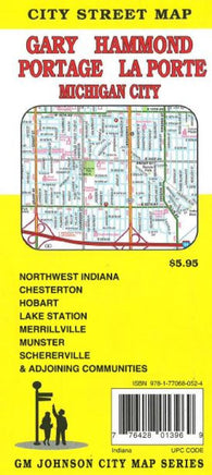 Buy map Gary, Hammond, Portage, La Porte and Michigan City, Indiana by GM Johnson