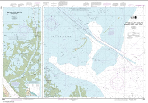 Buy map Baptiste Collette Bayou to Mississippi River Gulf Outlet; Baptiste Collette Bayou Extension (11353-7) by NOAA
