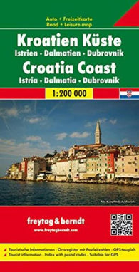 Buy map Croatian Coast, Istria, Dalmatia and Dubrovnik by Freytag-Berndt und Artaria