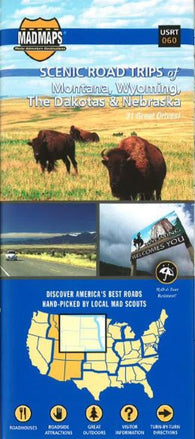 Buy map Dakotas, Eastern Montana, Eastern Wyoming, Northwest Nebraska, Regional Scenic Tours by MAD Maps