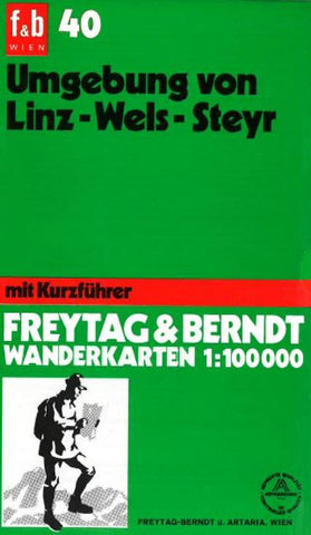 Buy map Linz and Wels Region around Steyr, WK 40 by Freytag-Berndt und Artaria