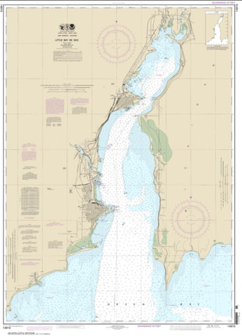 Buy map Little Bay de Noc (14915-26) by NOAA