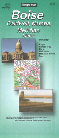 Buy map Boise, Idaho Street Map by Seeger Map Company