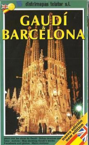 Buy map Barcelona & Gaudi, Spain by Distrimapas Telstar, S.L.
