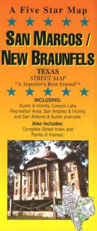 Buy map San Marcos, New Braunfels and Canyon Lake, Texas by Five Star Maps, Inc.