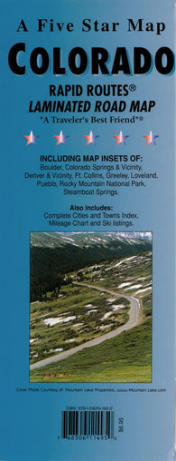 Buy map Colorado Rapid Routes by Five Star Maps, Inc.