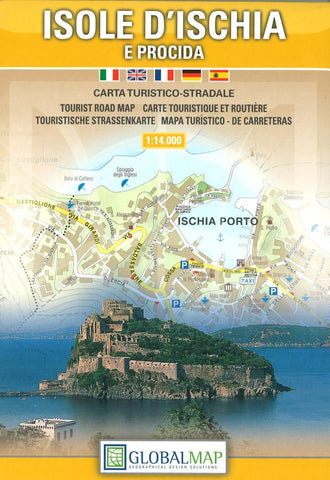 Buy map Ischia and Procida Islands, Italy by Litografia Artistica Cartografica