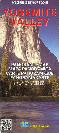 Buy map Yosemite Valley, California, Panoramic Map by Global Graphics