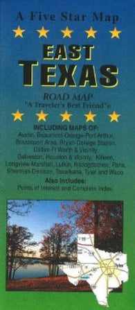 Buy map Texas, Eastern by Five Star Maps, Inc.