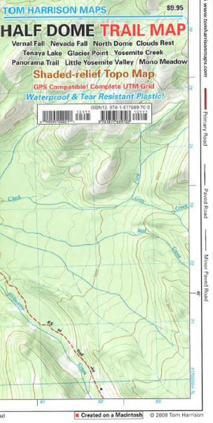 Buy map Half Dome and Yosemite, California by Tom Harrison Maps