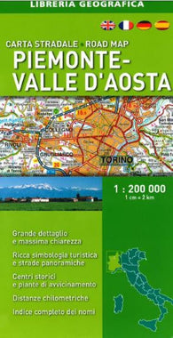 Buy map Piemonte-Valle dAosta/Piedmont-Aosta Valley, Italy, Road Map by Libreria Geografica