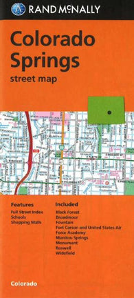 Buy map Colorado Springs, Colorado by Rand McNally, G.M. Johnson & Associates Ltd.