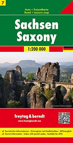 Buy map Germany, Saxony by Freytag-Berndt und Artaria