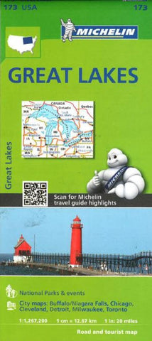 Buy map Great Lakes (173) by Michelin Maps and Guides