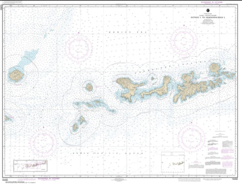 Buy map Igitkin ls. to Semisopochnoi Island (16460-15) by NOAA