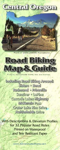 Buy map Central Oregon, Road Biking Map and Guide by Adventure Maps
