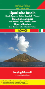 Buy map Aeolian Islands, Italy by Freytag-Berndt und Artaria