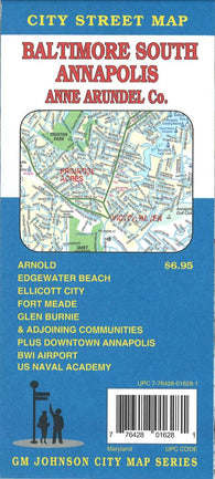 Buy map Baltimore South, Annapolis, and Anne Arundel County, Maryland by GM Johnson