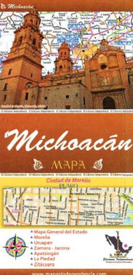 Buy map Michoacan, Mexico, State and Major Cities Map by Ediciones Independencia