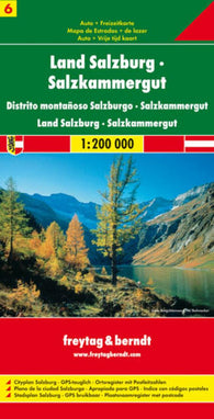 Buy map Austria, Federal State Salzburg and Salzkammergut by Freytag-Berndt und Artaria